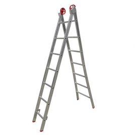Escada Extensiva 3 em 1  Alumínio 2×7 degraus 2,20 x 3,90 Botafogo