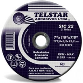 Disco Corte Refratario Telstar 7″ 177,8×3,2×22,2