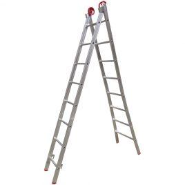 Escada Extensiva 3 em 1  Alumínio 2×8 degraus 2,60 x 4,50