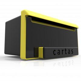 Caixa de Correio INBOX Luxo Preto Brilho e Amarelo Goma