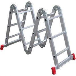 Escada articulada 13×1 3×4 12 degraus alumínio Botafogo