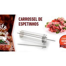 ROTARY SPETO Carrossel 06 Espetinhos Haste Central 60cm